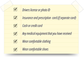 Day of Surgery Checklist